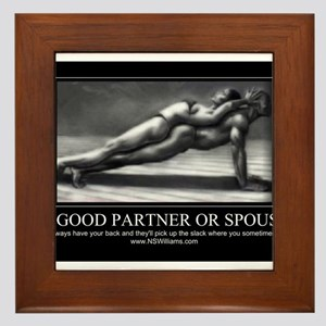 A good partner or spouse Framed Tile