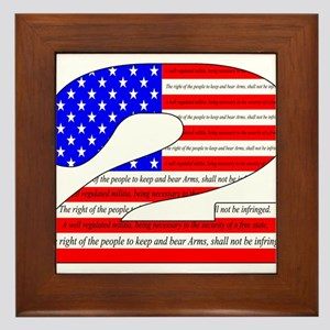 Keep our rights Framed Tile