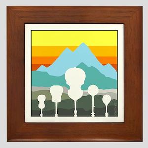 Mountain Music Framed Tile