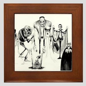 Classic movie monsters Framed Tile