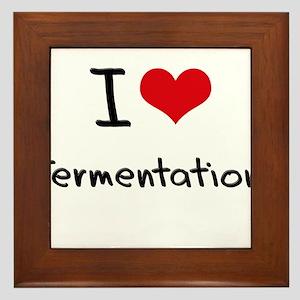 I Love Fermentation Framed Tile