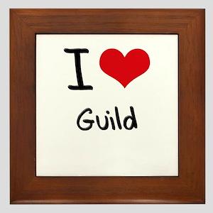 I Love Guild Framed Tile