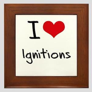 I Love Ignitions Framed Tile