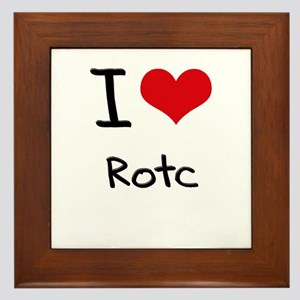 I Love Rotc Framed Tile