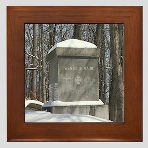 20th Maine Monument Framed Tile