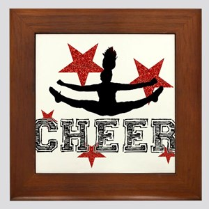 Cheerleader Framed Tile