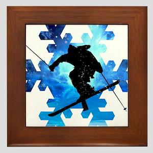 Winter Landscape Freestyle skier in Sn Framed Tile