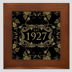 Established 1927 Framed Tile