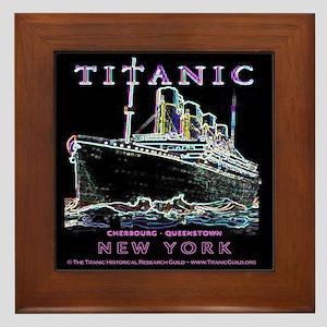 Titanic Neon (black) Framed Tile