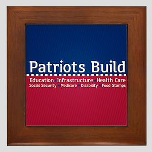 Patriots Build Framed Tile