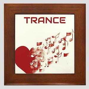 I am Trance Heart Framed Tile
