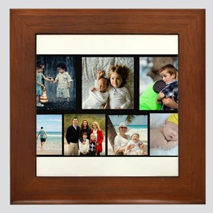7 Photo Family Collage Framed Tile