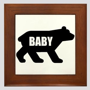 Baby Bear Framed Tile