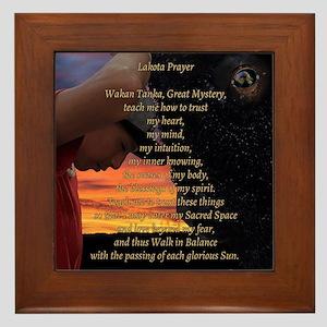 Lakota Prayer Framed Tile