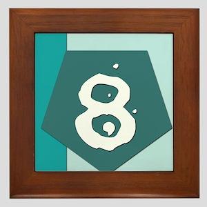 Number Eight Framed Tile