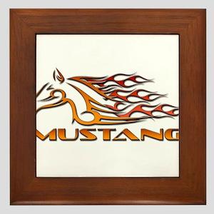 Mustang Tribal Framed Tile