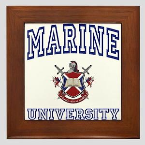 MARINE University Framed Tile