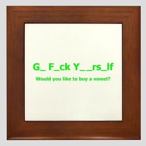 Buy a vowel Framed Tile