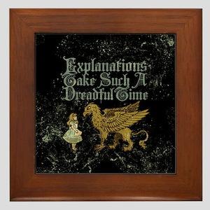 Alice Gryphon Explanations Framed Tile