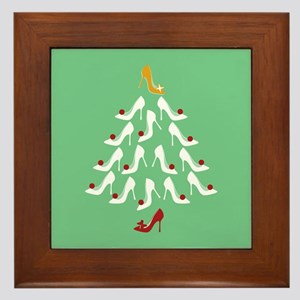 High Heel Shoe Holiday Tree Framed Tile