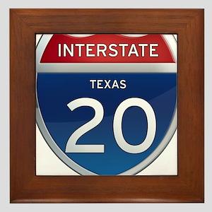 Interstate 20 - Texas Framed Tile