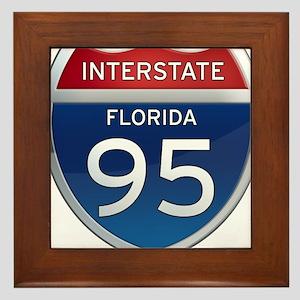 Interstate 95 - Florida Framed Tile