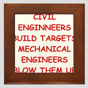funny engineering jokes Framed Tile