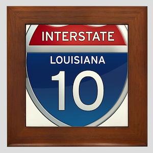 Interstate 10 Framed Tile