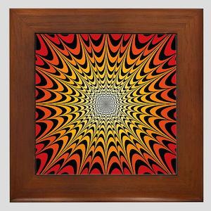 Sunburst Explosion Framed Tile