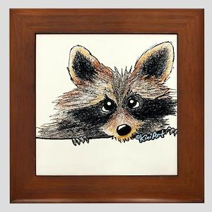 Pocket Raccoon Framed Tile