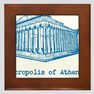 Acropolis of Athens Framed Tile