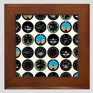 Flight Instruments Framed Tile