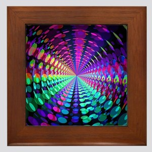 Abstract / Psychedelic Tunnel Framed Tile