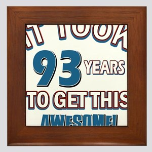 Awesome 93 year old birthday design Framed Tile