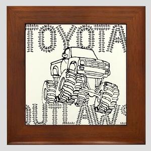 Toyota Outlaws Logo Framed Tile