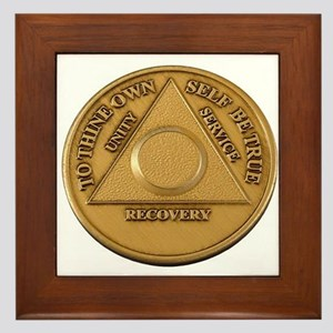 Alcoholics Anonymous Anniversary Chip Framed Tile