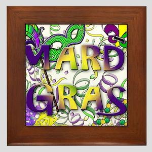 MARDI GRAS Framed Tile