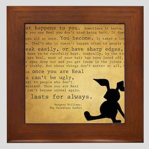 Velveteen Rabbit Print Framed Tile