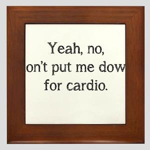 No cardio Framed Tile