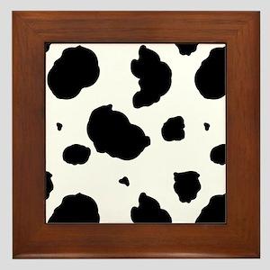 Cow Print Framed Tile