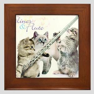Felines Flute Framed Tile