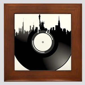 New York City Vinyl Record Framed Tile
