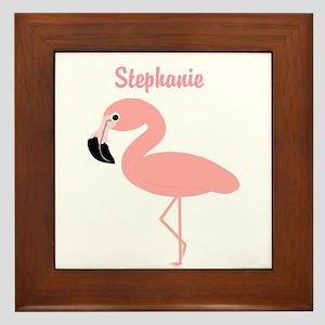 Personalized Flamingo Framed Tile