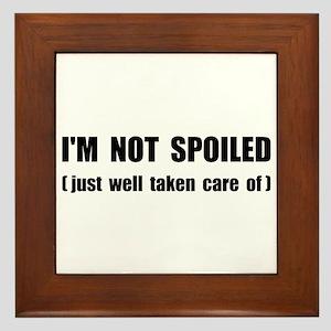 Not Spoiled Framed Tile