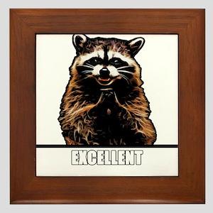 Evil Raccoon Framed Tile