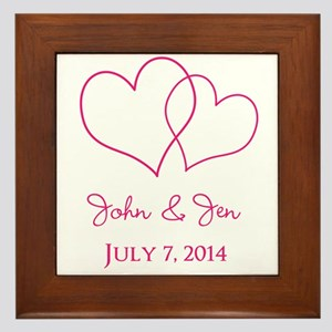Custom Wedding Favor Framed Tile