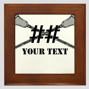 Lacrosse Camo Sticks Crossed Personalize Framed Ti