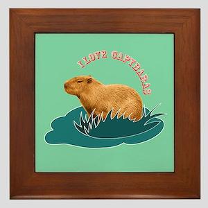 I Love Capybaras Framed Tile
