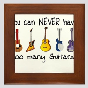 Too many guitars Framed Tile
