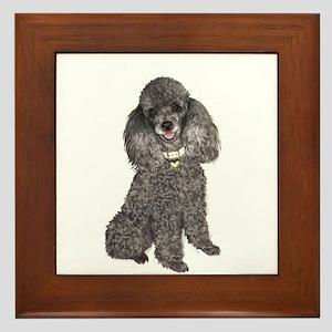 Poodle (Min-Slvr) Framed Tile